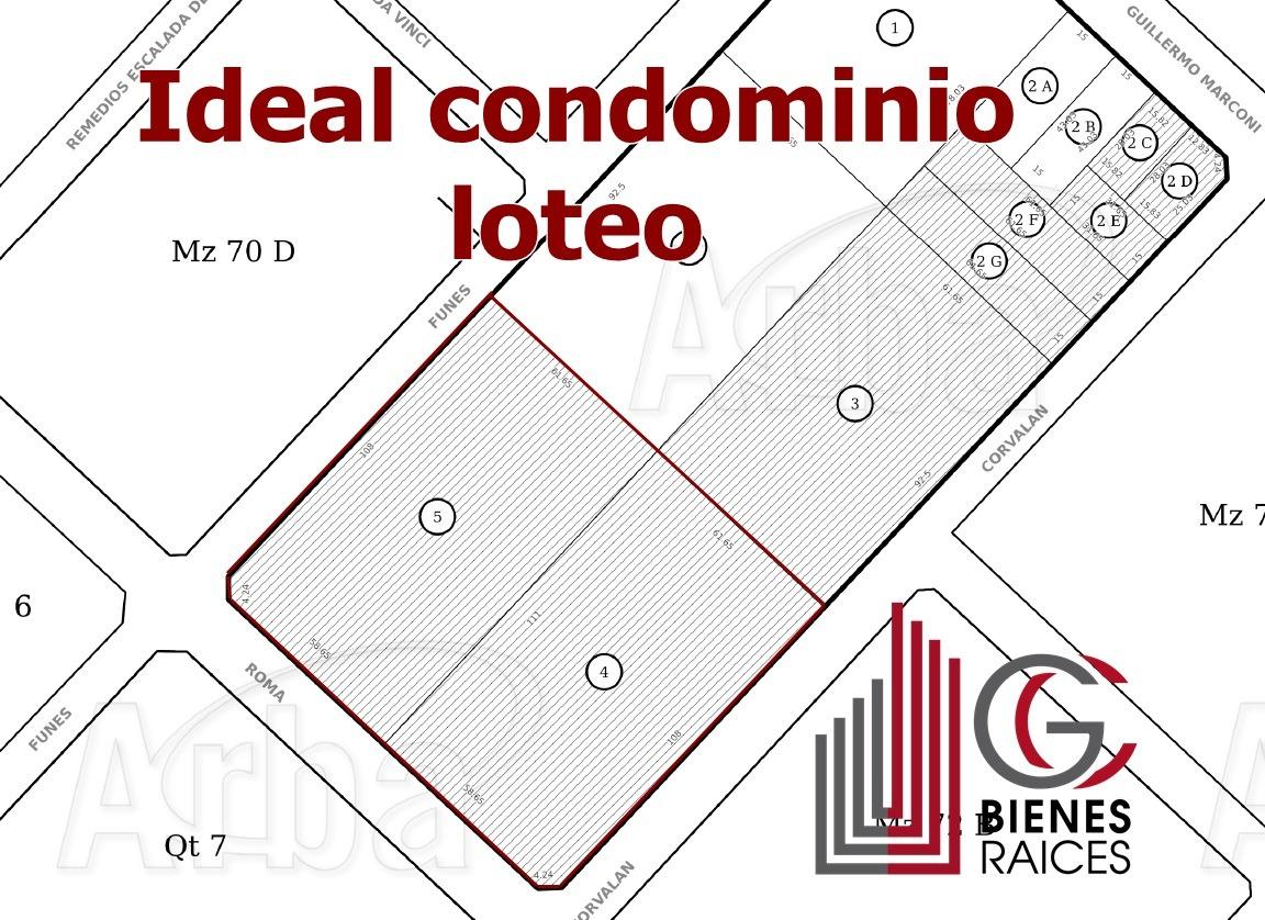 lote en paso del rey ideal condominios o loteo. 12780 m2