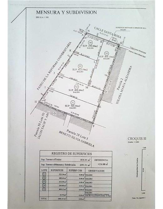 lote en venta - 2.056 m2 fte hospital de clinicas