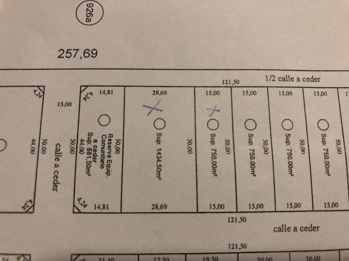 lote en venta - 446 y 157 barrio la serena - 15x50