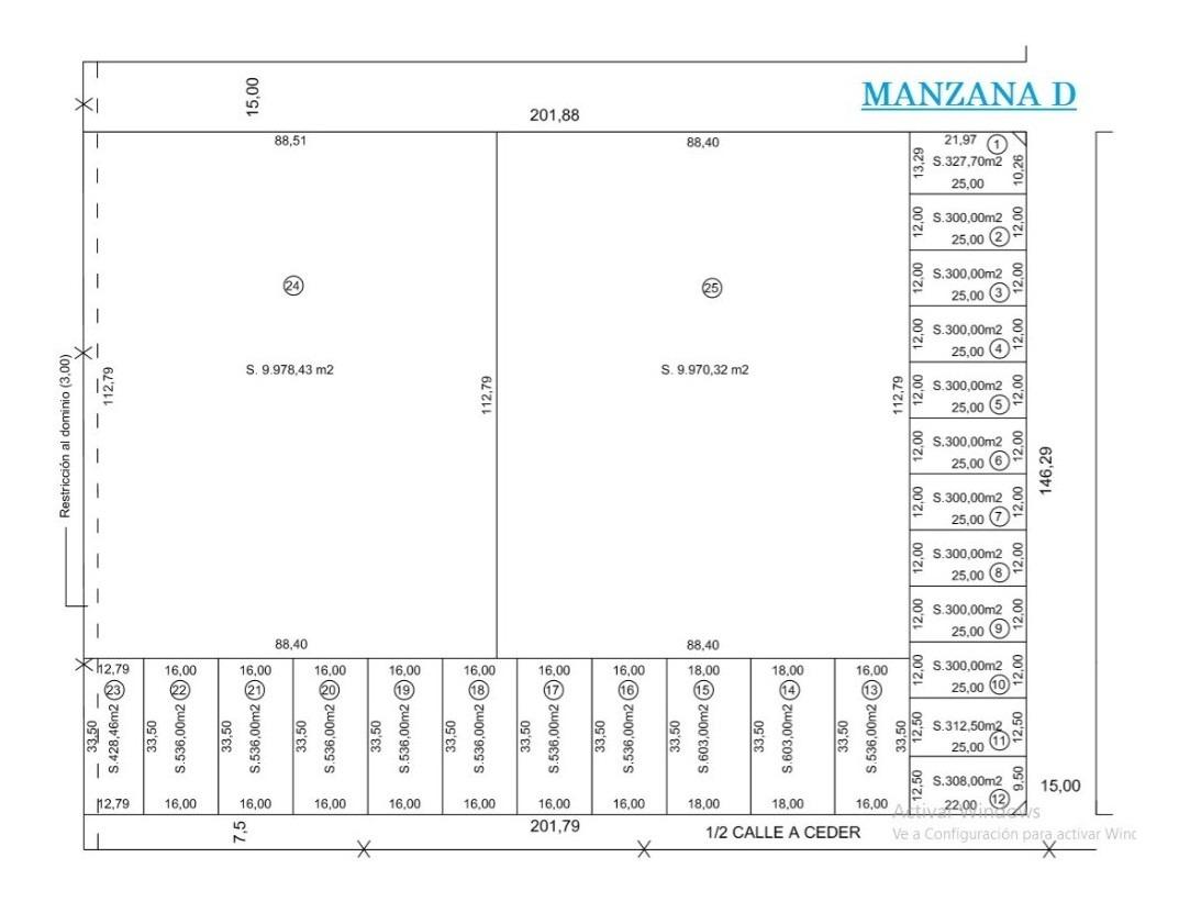 lote en venta | 501y161 ( senderos) mza. d - ph-lotes 17a22