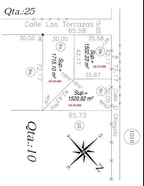 lote en venta altos de robles, exaltación de la cruz 2872 m2