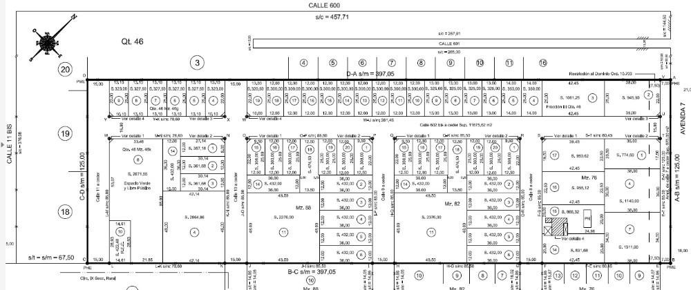 lote en venta   avda. 7 y 602 bis ( fracc.3-qta.46) lote 2y3