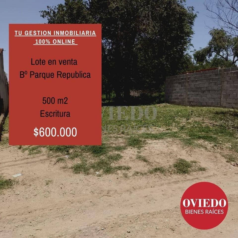 lote en venta bº parque republica calle quintuco al 5800
