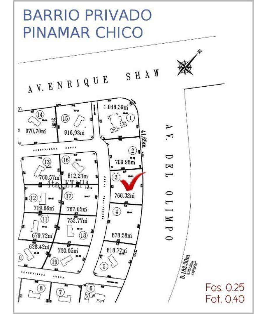 lote en venta barrio privado pinamar chico.(zona norte)