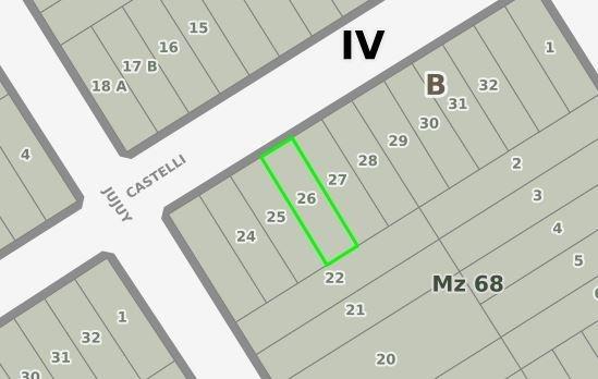 lote en venta calle castelli ingeniero maschwitz parcela 26