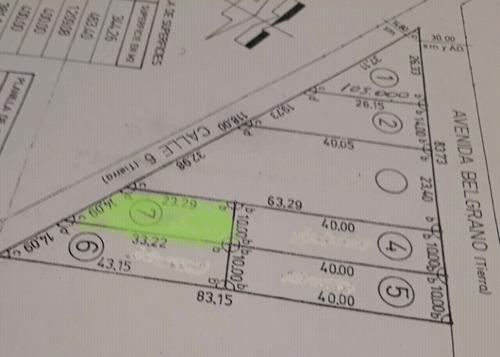 lote en venta en pueblo  clarke o carrizales se acepta soja$250.000