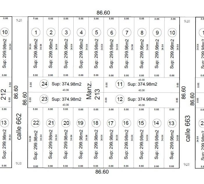 lote en venta en sicardi | 13 bis y 660 ( los fresnos) 375m