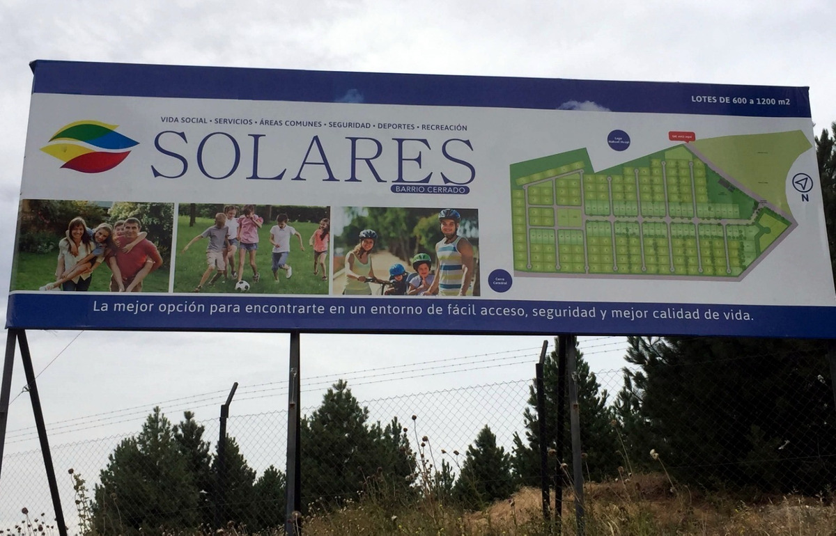 lote en venta en solares del este, bariloche - id: 7395