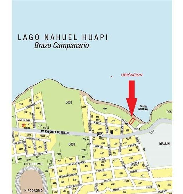 lote en venta sobre costa de lago bariloche