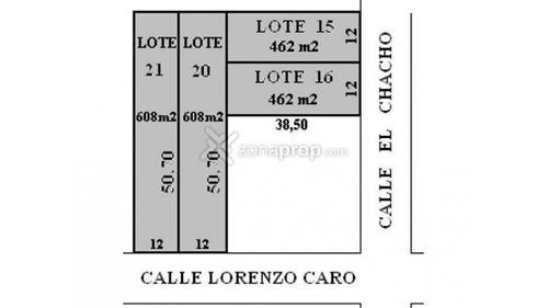 lote en venta :: udaondo :: 608m2
