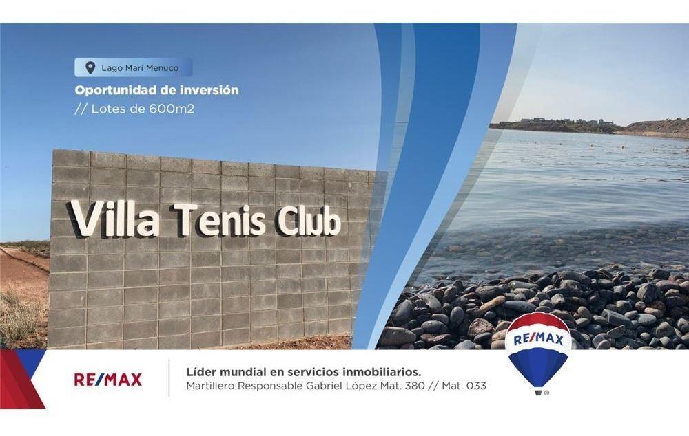 lote en venta villa tenis club lago mari menuco