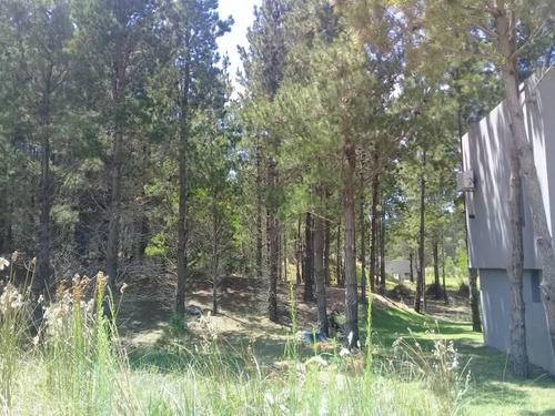 lote en venta zona deportiva costa esmeralda. terreno arbolado con buenos pinos