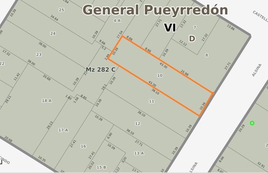 lote en zona guemes // ficha nº 24351