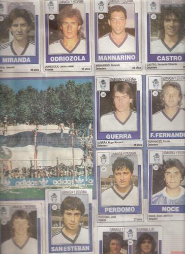 lote figuritas futbol  gimnasia  lp  completo  1992 album