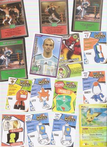 lote figuritas varias colecciones futbol power lucha gogos