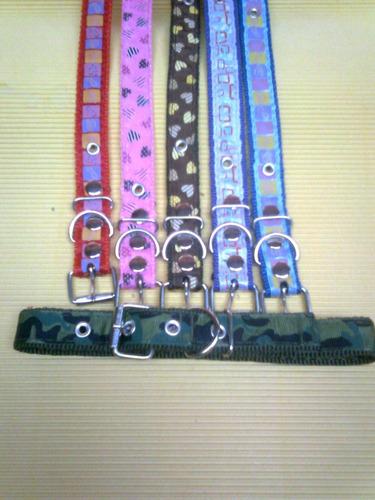 lote finos collares surtido de colores perros medianos