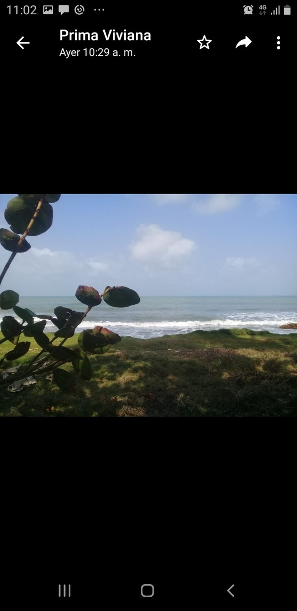 lote frente al mar