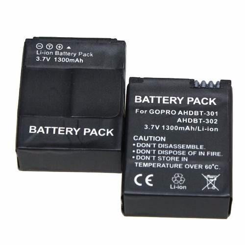 lote gopro 5 unidades baterias gopro hd hero3 / gopro hero3+