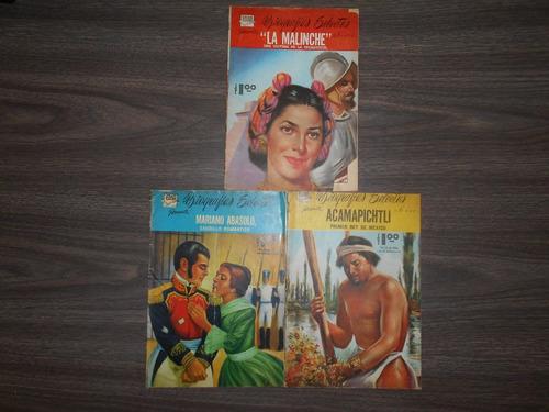 lote historietas-biografías selectas. edar. 1960.