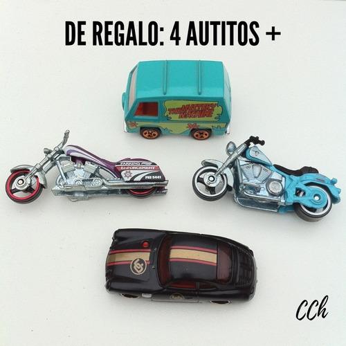 lote hot wheels matchbox 22 autitos + caja metálica cch