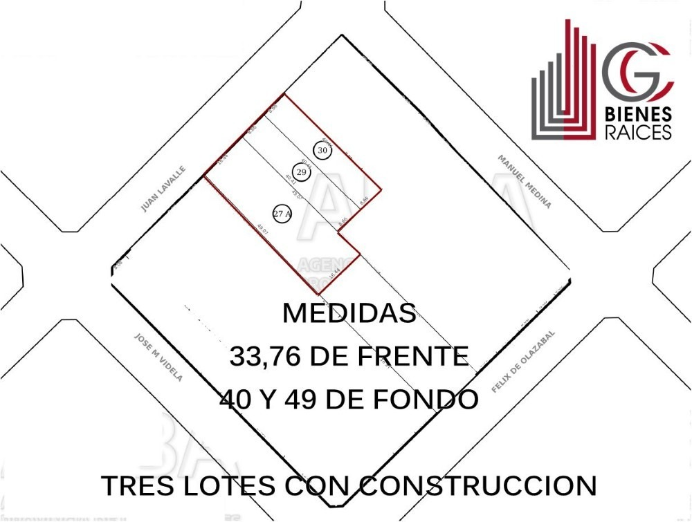 lote ideal construccion de duplex ituzaingo centro