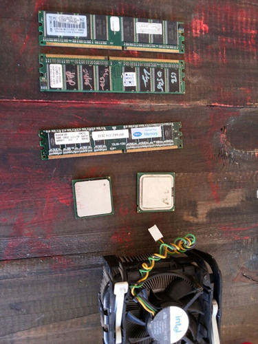 lote informática intel memoria ddr modem pentium 4 d865perl