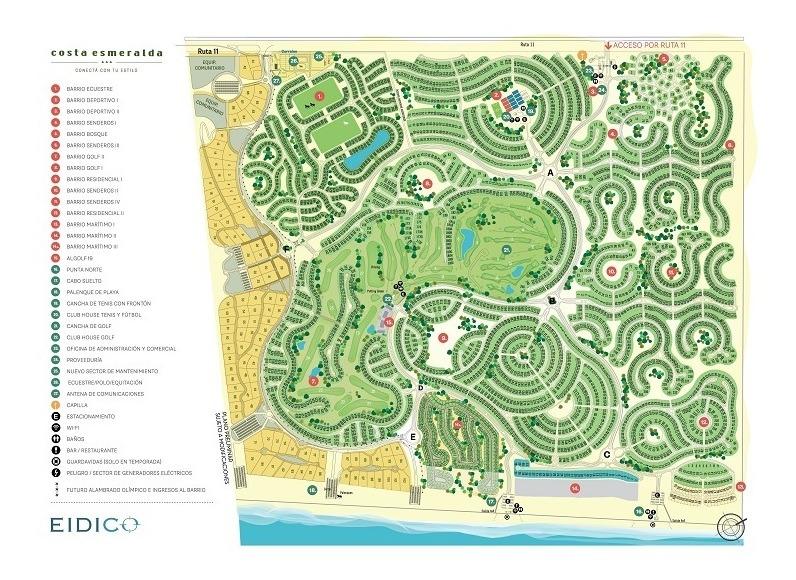 lote interno #0-100 - costa esmeralda - bosque - 1300m2 #id 9590