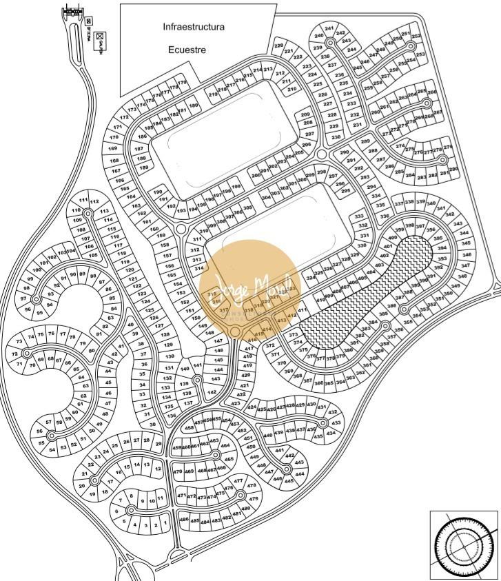 lote interno #100-200 - costa esmeralda - ecuestre - 1157m2 #id 9796