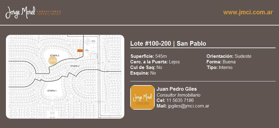lote interno #100-200 - san pablo - 545m2 #id 19823