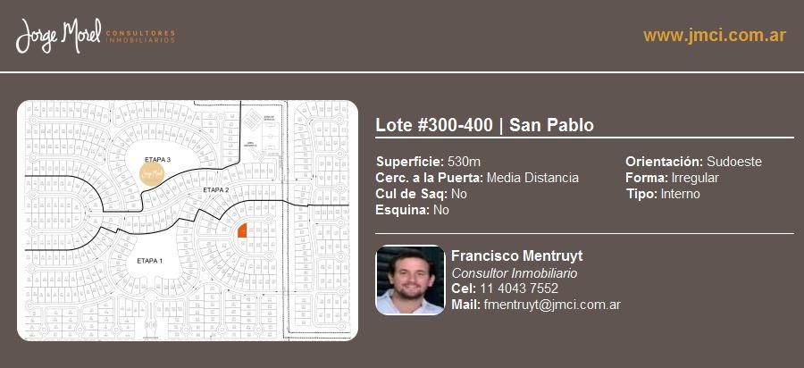 lote interno #300-400 - san pablo - 530m2 #id 20014
