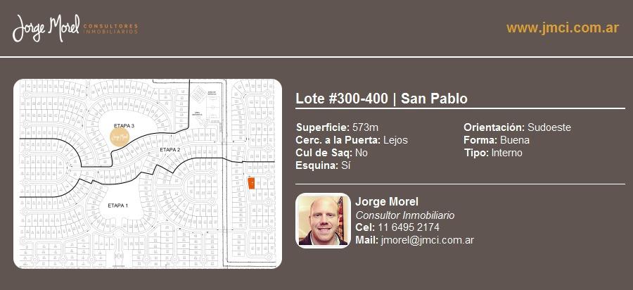 lote interno #300-400 - san pablo - 573m2 #id 19948