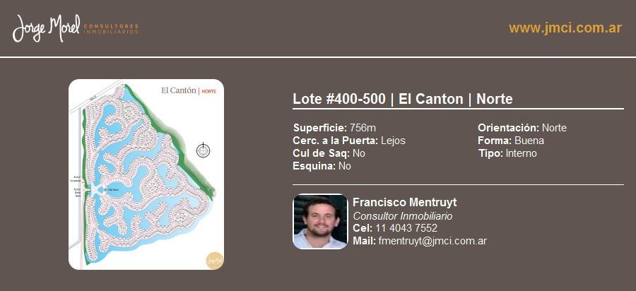 lote interno #400-500 - el canton - norte - 756m2 #id 22684