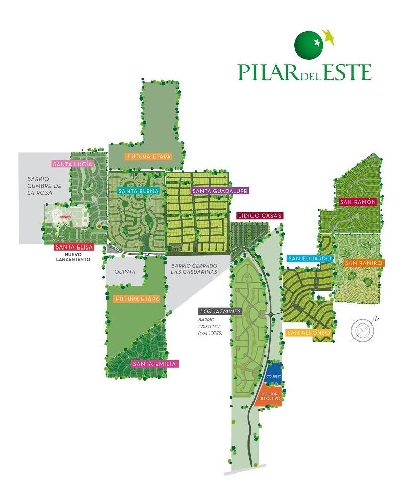 lote interno al verde #100-200 - pilar del este - santa elena - 490m2 #id 8522