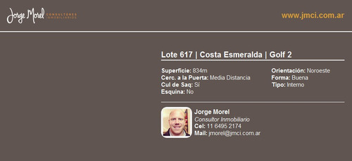 lote interno - costa esmeralda - golf 2
