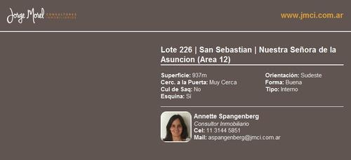 lote interno - san sebastian - nuestra señora de la asuncion (area 12)