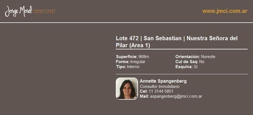 lote interno - san sebastian - nuestra señora del pilar (area 1)