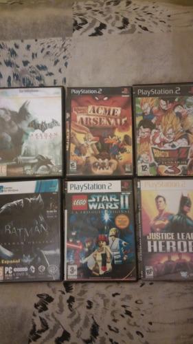 lote juegos, batman arkham pc, y otros para playstation 2