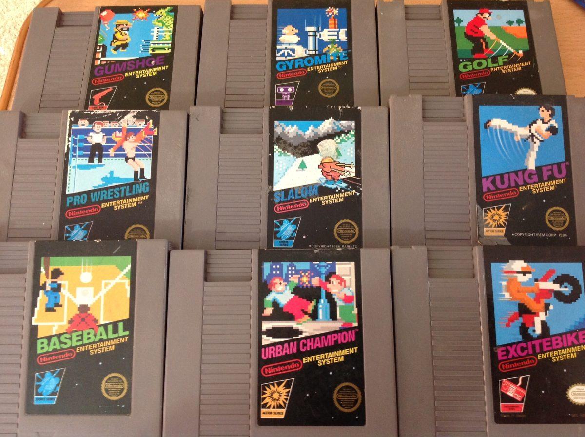 Lote Juegos Nintendo Nes Etiqueta Negra 1 600 00 En Mercado Libre