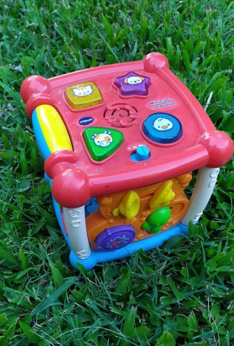 lote juguete vtech fisher price mesa,batería,cubo
