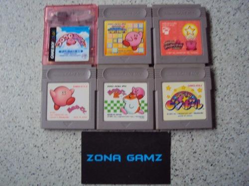 lote kirby 6 juegos gameboy color zonagamz