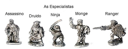 lote kit de 16 miniaturas rpg / d&d humanos as especialistas