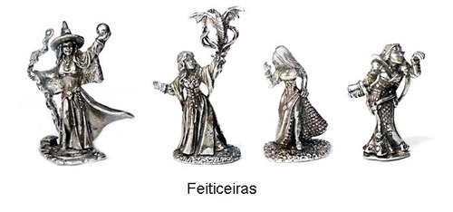 lote kit de 16 miniaturas rpg / d&d humanos especialistas