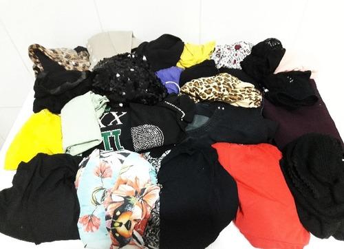 lote kit de roupas femininas para bazar brechó 30 peças tama