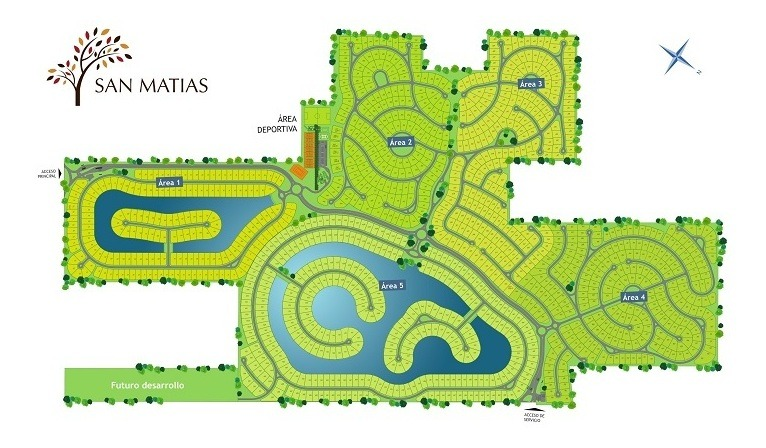 lote laguna #100-200 - san matias - area 1 - 1065m2 #id 12637