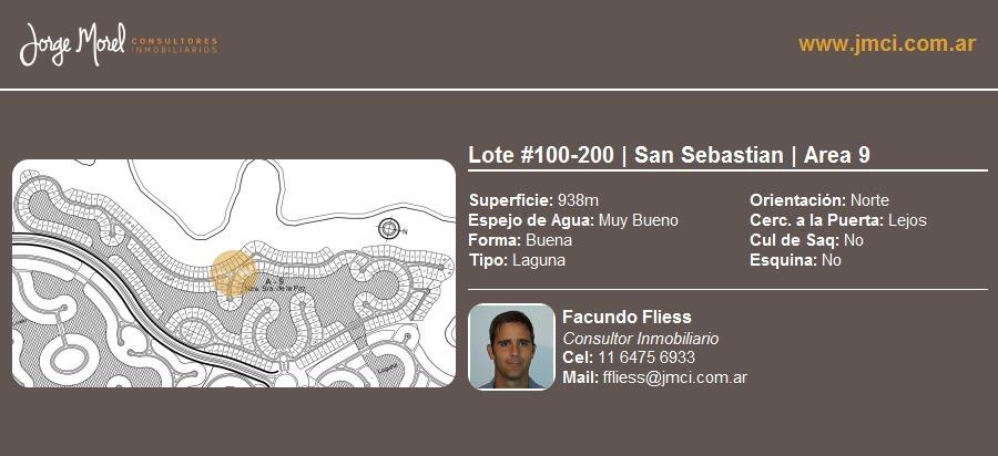 lote laguna #100-200 - san sebastian - area 9 - 938m2 #id 2249