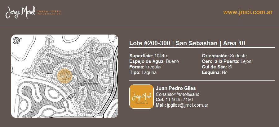 lote laguna #200-300 - san sebastian - area 10 - 1044m2 #id 2711