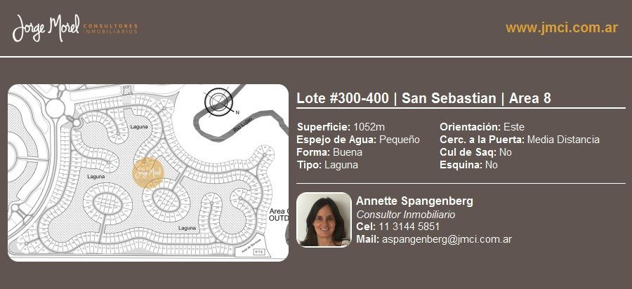 lote laguna #300-400 - san sebastian - area 8 - 1052m2 #id 2046