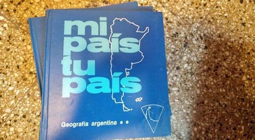 lote libros de geografia  mi pais tu pais