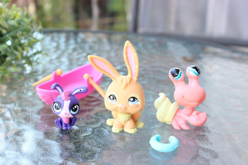 lote littlest pet shop hasbro set paseo en bote con bebe