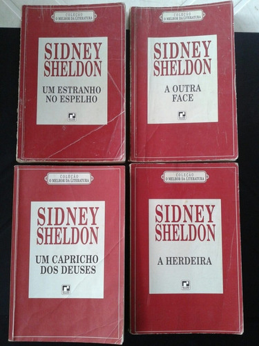 lote livros sidney sheldon 4 exemplares